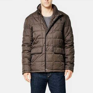 Cole Haan Signature Box Quilted Coat.